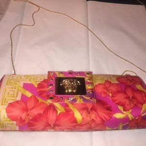 Authentic Versace Embellished Clutch, Bag